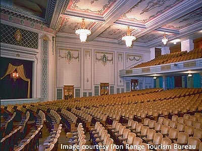 View of historic Hibbing Auditorium