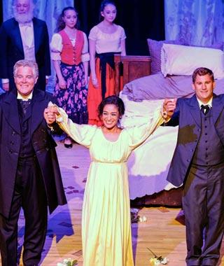 Curtain call with cast of La traviata.